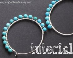 Tutorial on bead hoop earrings