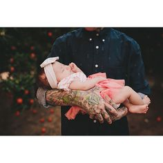 20+ Babies And Their Tattooed Parents That Look Absolutely Beautiful... via Polyvore featuring tattoo