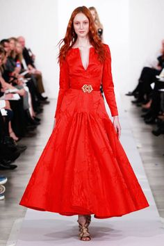 Lady in red: Oscar de la Renta Pre-Fall 2013 #. Oh dear lord, this is one of the prettiest dresses ever