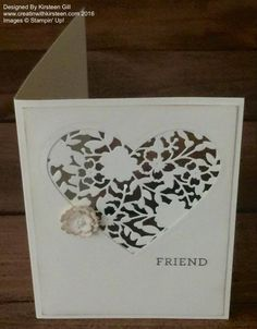 Using the Bloomin' Hearts thinlit #stampinup #occasions #creatinwithkirsteen