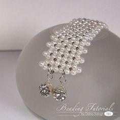 Tutorial Chenille net bracelet DIY beading pattern easy