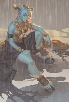 Rain Shaman, emily suh on ArtStation at https://www.artstation.com/artwork/llA6e