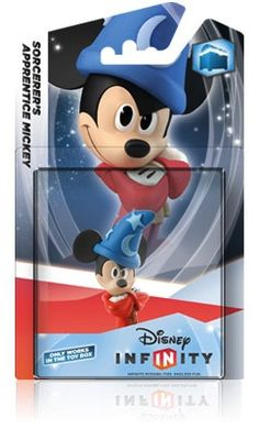 Disney INFINITY CRYSTAL Clear SORCERER/'S APPRENTICE MICKEY Game Figure VARIANT