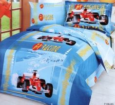 Formula 1 Racing Car Twin Duvet Bedding Set In Blue