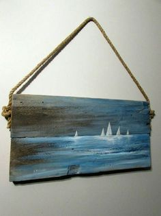 Maritime painting Sylwia Michalska, oil on board, painting Sylwia Michalska - painting . - Maritime painting Sylwia Michalska, oil on board, painting Sylwia Michalska – painting – - Arte Pallet, Pallet Wall Art, Pallet Painting, Tole Painting, Painting On Wood, Wood Paintings, Driftwood Projects, Driftwood Art, Sailboat Painting