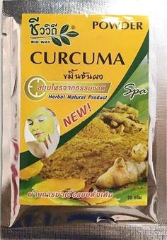 Herbal Powder Curcuma Spa Reduce Dark Spots Eliminate Acne Face White Skin 20 g #BIOWAY