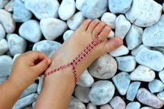 RED Rhinestones Baby Barefoot Sandals;Glam, Baby Foot accessories, Photo prop, Beach Pool Anklet, Beachwear Accessory, baby foot jewelry by Kreacje on Etsy