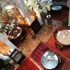 Courtyard of Riad Zahraa in Meknes, Morocco Senior Trip, Beautiful Hotels, Marrakech, Tree Skirts, Moroccan, Christmas Tree, Holiday Decor, Interior, Beauty
