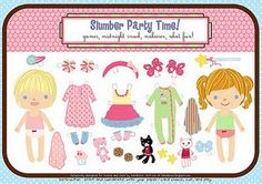 Free Paper Doll Printables (6 different ones)