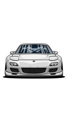 Ideas cars classic japan for 2019 Mazda, Rx7, Car Illustration, Japan Cars, Car Posters, Car Drawings, Cute Cars, Automotive Art, Car Painting