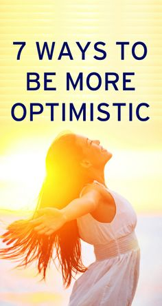 How to be a more optimistic person. Already pretty optimistic but it never hurts to see what else can work! Good To Know, Feel Good, Heath And Fitness, Positive Thoughts, Positive Vibes, Positive Quotes, Things To Know, Better Life, Self Improvement