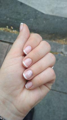 French Manicure Nails, French Tip Nails, Gel Nails, Nail Polish, Linda Nails, Nail Art Designs Videos, Instagram Nails, Winter Nail Designs, Disney Nails