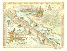 33 Best My Baja Maps ~ images   Mexico, Travel, California map
