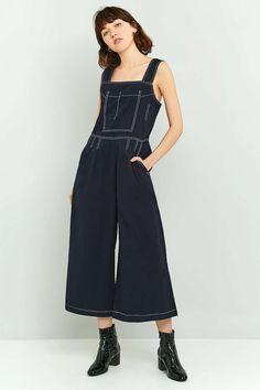 LF Markey Beau Contrast Stitch Blue Jumpsuit
