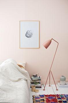 Pink + moroccan rug