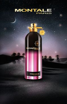 Montale Starry Night ~MONTALE launches two new fragrances that can already be enjoyed at the Montale boutique in Paris. .....Starry Night by Montale is a Oriental Floral fragrance for women and men. This is a new fragrance. Starry Night was launched in 2015. Top notes are lemon, bergamot and apple; middle notes are patchouli, rose and jasmine; base notes are powdery notes, amber and white musk.