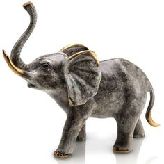 Captivating Urban Trends Collection Large Silver Resin Elephant (Resin Elephant Silver  Large)   Urban Trends