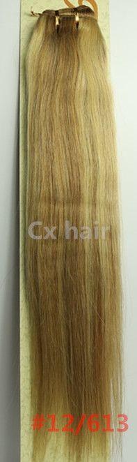 "(34.00$)  Watch here  - ""#12/ 613  16""""18""""20""""22""""24""""26""""28""""silk soft remy brazilian human hair extensions human hair weft weaving 100g/pcs"""