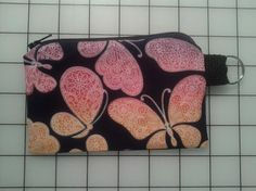 Zippered Coin Purse Keychain by MLCCreations33 on Etsy