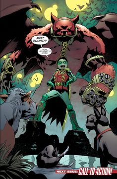 Robin - Son of Batman 9 Page 22 <<< how many fucking pets does Damian Wayne have? Do they wander around Wayne estate? Has Batcow ever casually walked through a fundraising dinner-party? Nightwing, Batgirl, Catwoman, Batman Y Superman, Son Of Batman, Batman Family, Batman Arkham, Batman Art, Batman Robin
