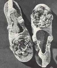 Rose Slippers free pattern