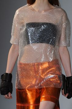MM6 Maison Martin Margiela Fall 2014 Bubble wrap  brilliant, wearing this to the dmv office so I have something to do in line
