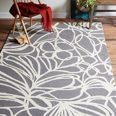 Sketch Wool Rug - Steel #westelm They didn't have a swatch for this one :( Too new. Do you even like it??