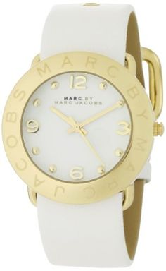 9f15223d3d0 Marc by Marc Jacobs Women s MBM1150 Amy White Dial Watch White Leather