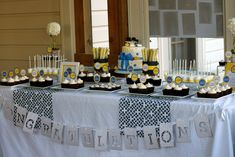 It's graduation time and I had the honor of creating this cake & dessert table for Cassie who graduated from Cedar Cliff High School on Tuesday.The special cake for Cassie was vanilla cak… Nursing Graduation, High School Graduation, Graduation Ideas, Graduation Banner, Graduation Photos, Grad Parties, Holiday Parties, Graduation Desserts, Graduation Cupcakes