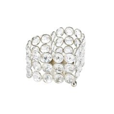 Crystal Heart Candleholder - Let your heart shine bright with this pretty candle holder. Round faceted crystals surround a heart-shaped framework thats ready to hold your favorite candle. Youll love the shine that this dazzling lighting accent gives your room.