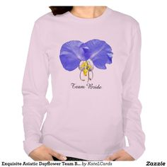 Exquisite Asiatic Dayflower Team Bride T Shirt