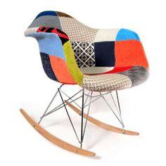 Fotel bujak bujany patchwork krzesło bujane DSW RETRO NOWE Białystok - image 1