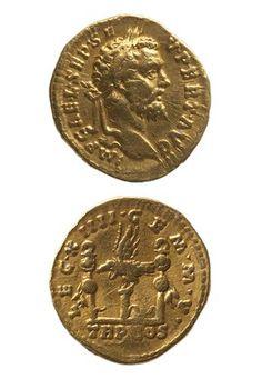 Aureus of Septimius Severus (193 - 211) from Rome,The Roman Empire.