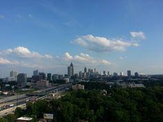 Atlanta skyline from the Nelson Mullins terrace