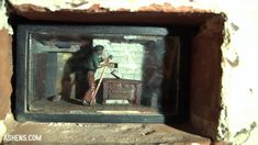 Filmmaker Stuart Ashen and his crew recently made an interesting discovery behind a loose brick in the wall of Jurnet's Bar in Norwich, England. via reddit
