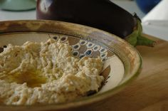 Moutabal - Aubergine paste *great with pan-fried cod & radish-pea salad*