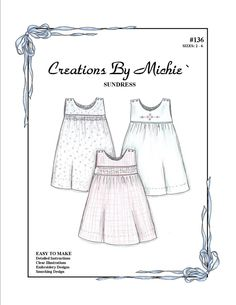 The Children's Corner -Patterns - Creations by Michie' Patterns - Sewing and Smocking Patterns Childrens Sewing Patterns, Sewing For Kids, Sewing Patterns Free, Baby Sewing, Baby Patterns, Vintage Patterns, Sew Baby, Free Sewing, Sewing Ideas