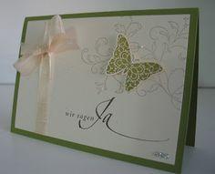 stampin with beemybear: Hochzeitseinladungen und Menükarten