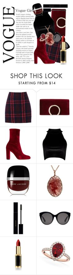 """Sin título #45"" by stylish0 ❤ liked on Polyvore featuring Oasis, Jessica McClintock, Oscar Tiye, Boohoo, Marc Jacobs, Gucci, L'Oréal Paris and Allurez"