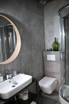 #przechowalniamarzen #bistro #mikolajki #mazury #polska #poland #home #bathroom #idea #interior #industrial #loft #modern #guesthome #white #gren #mirrow #ikea #design Decor, Furniture, Home Decor, Bathroom Mirror, Round Mirror Bathroom, Bathroom, Sink, Mirror