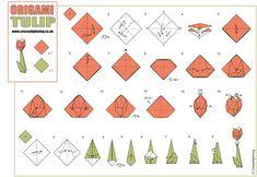 origami tulips - mark bolitho