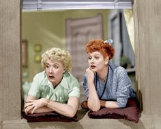 Vivian Vance and Lucille Ball in 'I Love Lucy', 1950s. I love that it's in color!