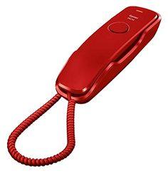 Gigaset DA210 - Teléfono de sobremesa o pared, agenda de 10 contactos, color rojo #Gigaset #Teléfono #sobremesa #pared, #agenda #contactos, #color #rojo