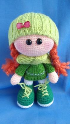 Caramel - My Lyubimka - Gallery - fans amigurumi (knitted toys) Crochet Amigurumi, Knit Or Crochet, Cute Crochet, Crochet For Kids, Amigurumi Doll, Amigurumi Patterns, Crochet Crafts, Yarn Crafts, Doll Patterns