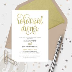 "Dinner Invitation Template Adorable Rehearsal Dinner Invitation Template ""gold Glitter"" Diy Printable ."