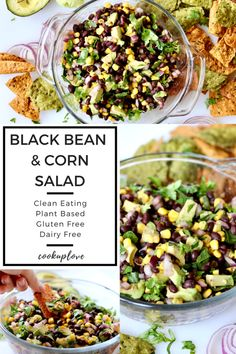 This Black Bean and Corn Salad is super quick and easy! Healthy, clean eating, gluten free, plant based, vegan & dairy free • Cook up Love