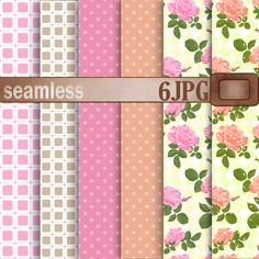 A set of digital paper scrapbooking by Futurel on @creativemarket