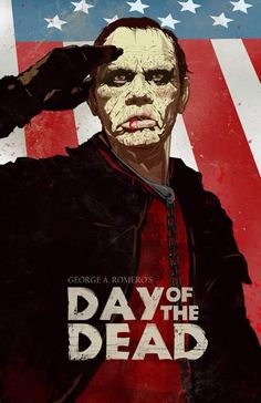 """day of the dead"" romero movie poster Horror Movie Posters, Movie Poster Art, Horror Films, Horror Icons, The Dead Movie, Zombie Movies, 80s Movies, Movie Film, Costumes"