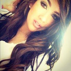 Hair and eye makeup <3