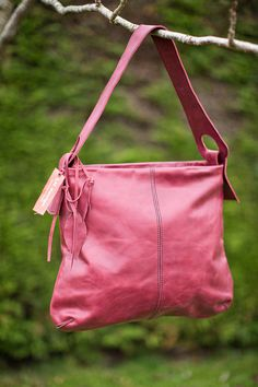 Midsize leather tote bag by LHdesignIE on Etsy, €99.00